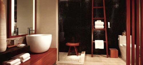 The bathroom at Nobu Hotel