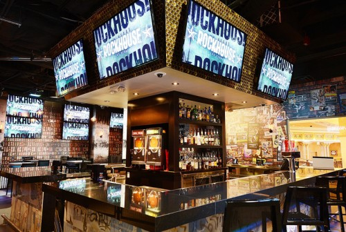 A bar inside the Rockhouse Las Vegas