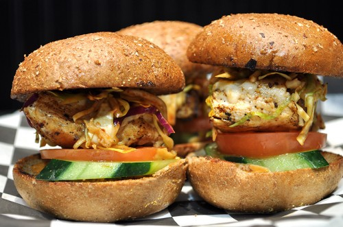 Smokey chipotle chicken sliders at the Rockhouse Las Vegas