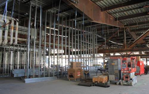Construction of the casino at Downtown Grand