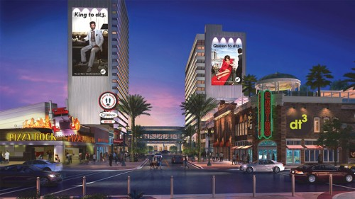 A rendering of Downtown Grand in downtown Las Vegas