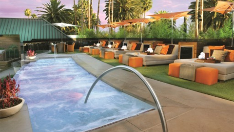 The upper (VIP) level at Bare Pool Lounge