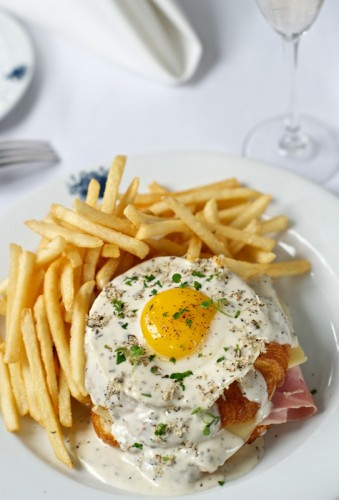 Croque Madame from Bagatelle Brunch at the Tropicana Las Vegas
