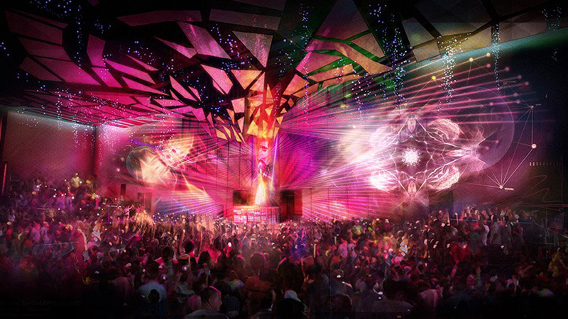 A rendering of Light Nightclub at Mandalay Bay