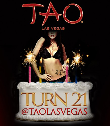 The turning 21 evite at TAO Las Vegas