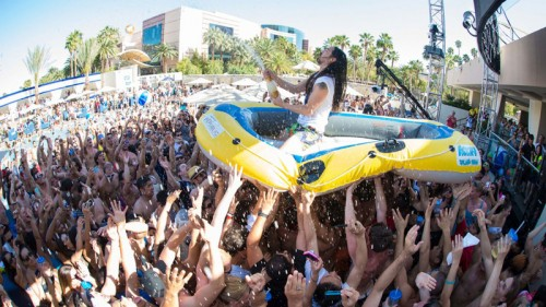 DJ Steve Aoki at Wet Republic