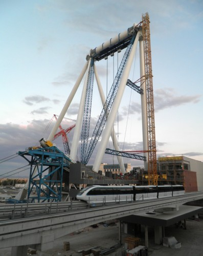 Construction on the High Roller at The Linq