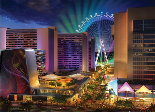 A rendering of The Linq and High Roller