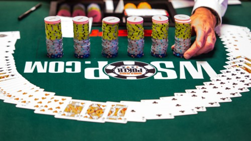 Chips and cards in 2013 World Series of Poker at Rio Las Vegas