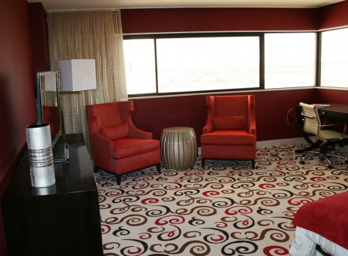 A premium room at Downtown Grand (photo by Jennifer Whitehair)