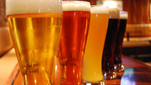 The four signature craft brews at Ellis Island Casino and Microbrewery