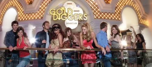 The balcony at Gold Diggers in Golden Nugget