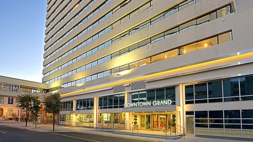 The exterior of the Downtown Grand