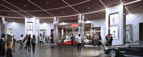 SLS Las Vegas main entry rendering