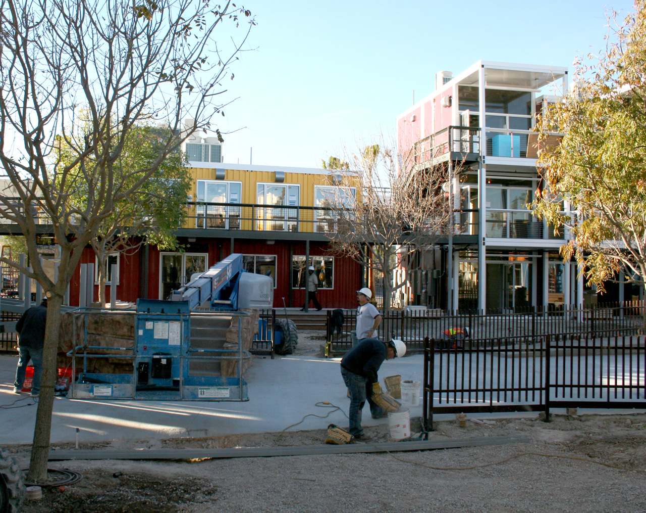 Construction at Downtown Container Park