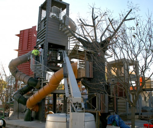 Children's playground at Downtown Container Park