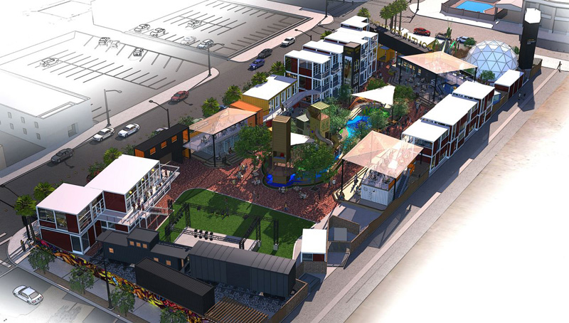 A rendering of Downtown Container Park