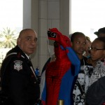 Spider Man showed up at the event
