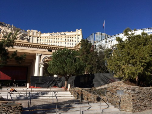 The entrance of Monte Carlo under renovation