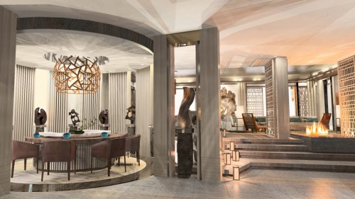 A rendering of Nobu Villa at Nobu Hotel Caesars Palace