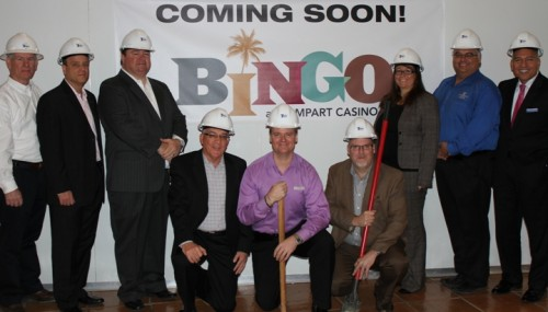 Ground breaking at Rampart Casino