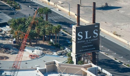 Construction at SLS Las Vegas
