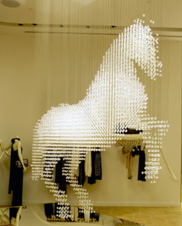 Year of the horse on display in las vegas las vegas blogs horse chandelier at crystals aloadofball Image collections