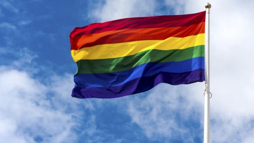 A rainbow flag (image from Photos.com)