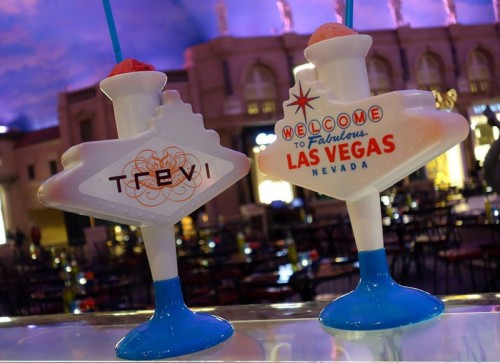 Trevi's Welcome to Las Vegas sign souvenir cups