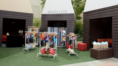 The new Bikini.com pop-up shop at Palms Pool