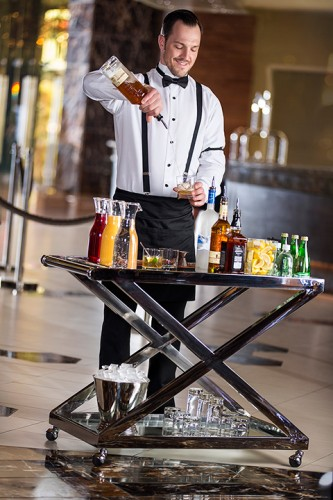 The Beverage Butler at the Palms' lobby