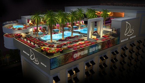 Drai's Beach Club rendering
