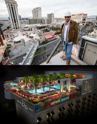 Victor Drai and a rendering of Drai's Beach Club