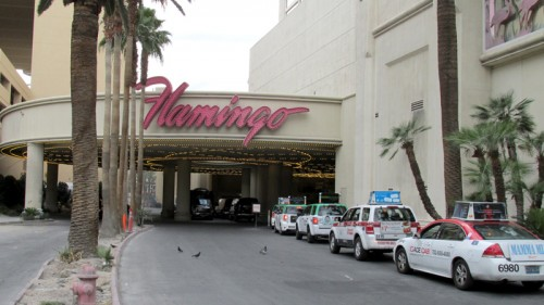 A taxi stand at the Flamingo resort