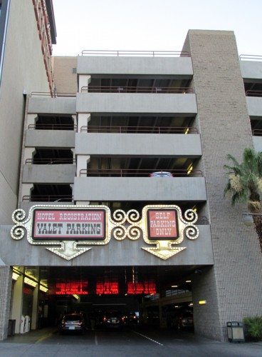 The valet and self-parking garage at the California Hotel & Casino
