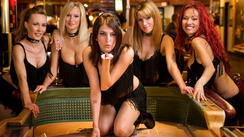 The Dancing Dealers at the Golde Gate Hotel & Casino