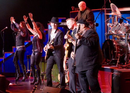 Michael Grimm and his band at Ravello