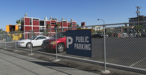 El Cortez's public parking lot near Downtown Container Park