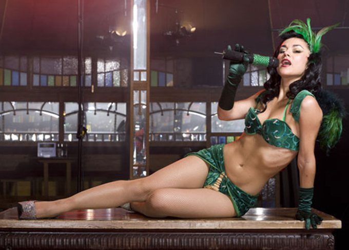 Melody Sweets as Absinthe's Green Fairy