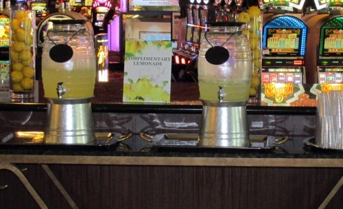 Guests can enjoy a complimentary cup of refreshing lemonade in the lobby of the Westgate Las Vegas