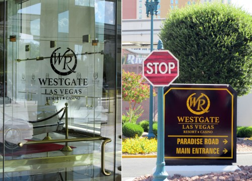 New signage now appears in and around the Westgate Las Vegas
