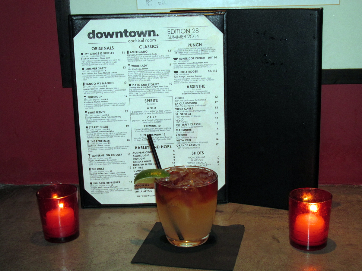 Dark & Stormy at the Downtown Cocktail Room