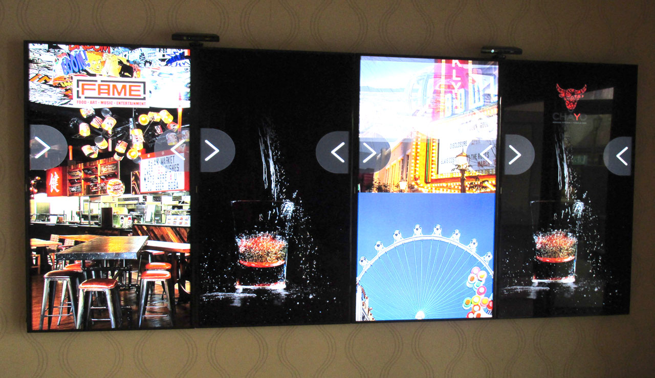 Among The LINQ Hotel & Casino's new technology is this interactive wayfinder. It's as fun to use as it is to look at.