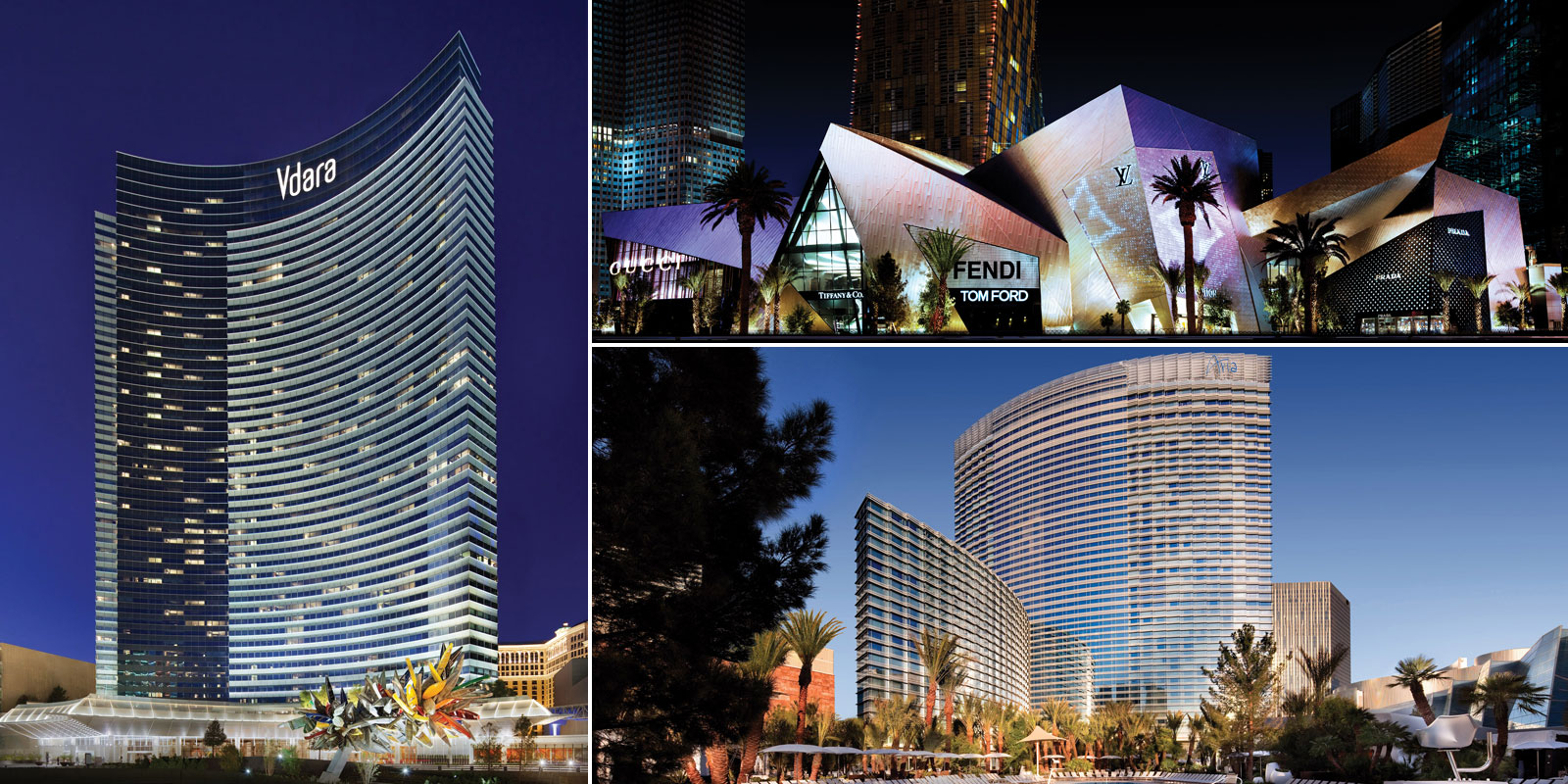 Vdara, Crystals and Aria