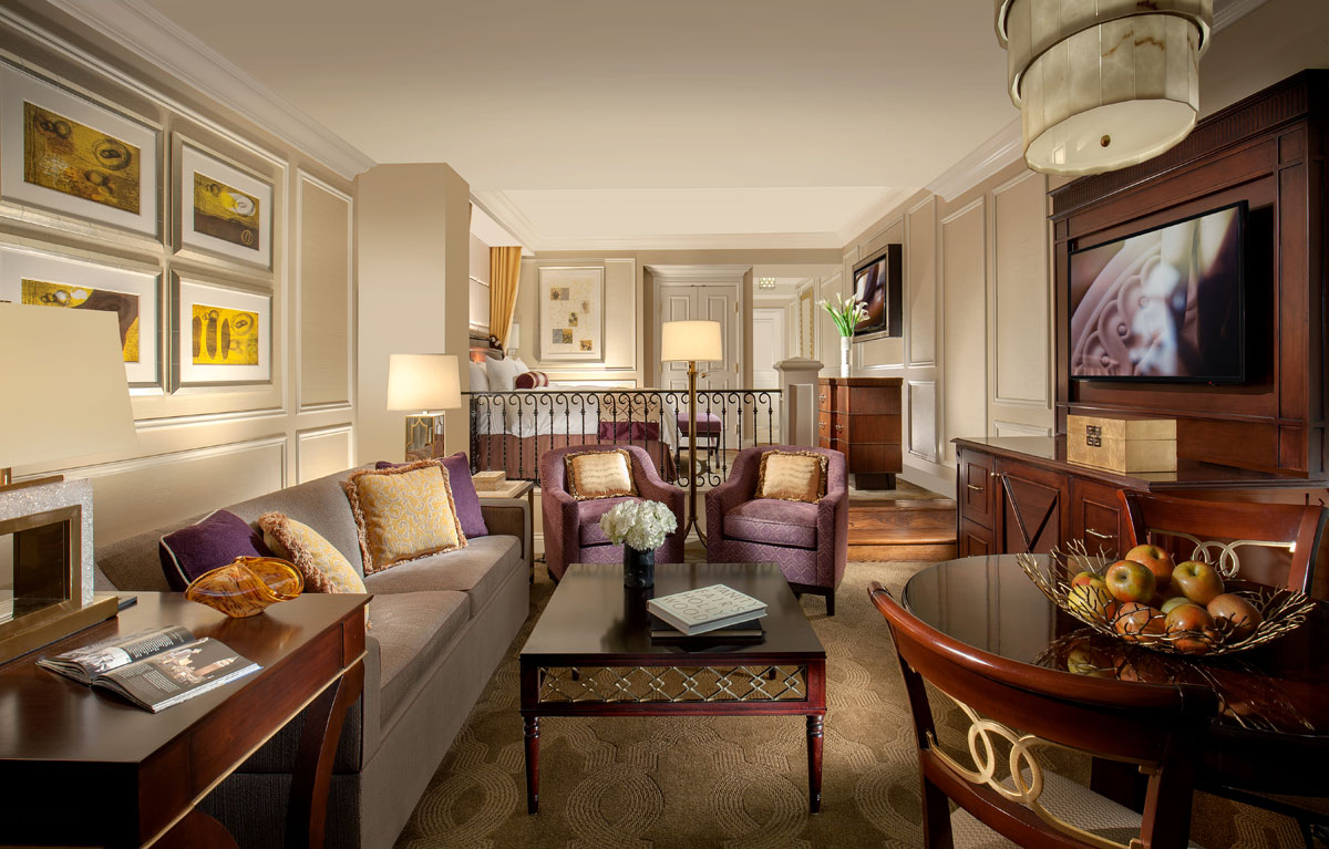 A view across The Venetian's luxurious Luxury Suite. Photo courtesy The Venetian.