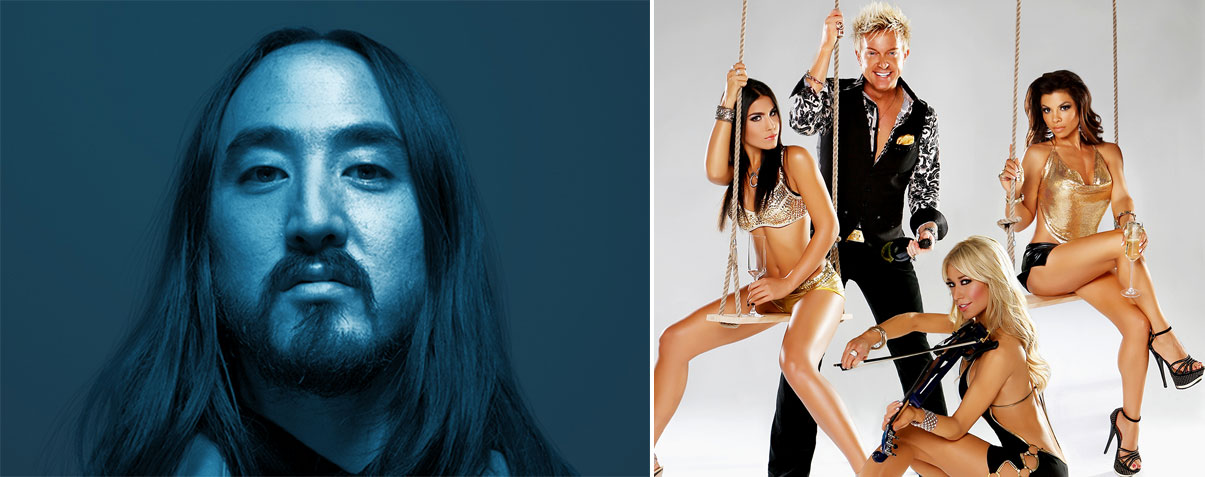 From left: Steve Aoki and Zowie Bowie