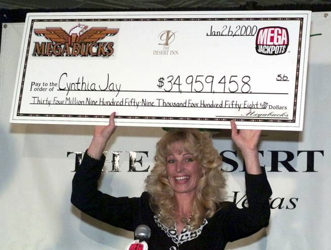 Photo of Cynthia Jay-Brennan at the Desert Inn courtesy of Ethan Miller / Las Vegas Sun.