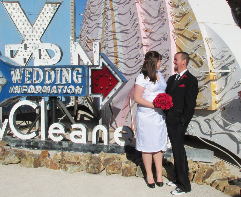 A restored Wedding Information sign at The Neon Museum offers a romantic photo opp. Photo courtesy of The Neon Museum.
