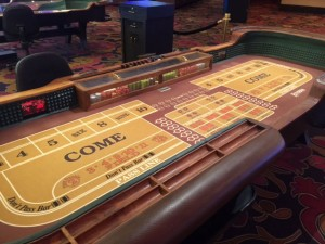 Gaming tables like this craps table are likely to go fast.