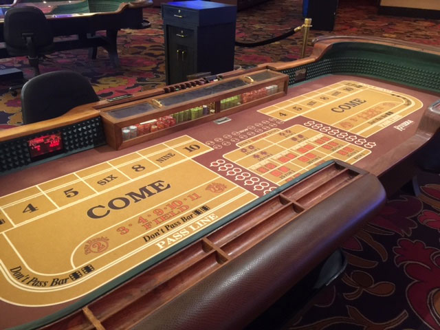 Five dollar craps tables on the strip